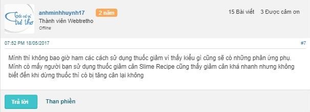 Bật mí của người dùng anhminhhuynh17 về sản phẩm giảm cân genie slim recipe Hà Quốc