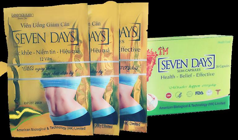 Thuốc giảm cân Seven Days có tốt không? Review chi tiết Webtretho