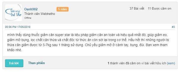 Review thuốc giảm cân Super Star
