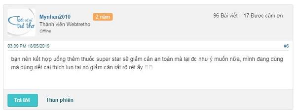 Nhận xét về thuốc Super Star