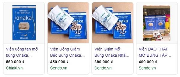 Viên uống giảm mỡ bụng Onaka có tốt không, onaka pillbox japan, review, thuốc giảm cân, tiêu mỡ bụng, tan mỡ bụng, giá bao nhiêu
