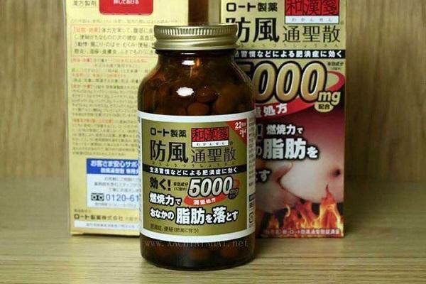 Thuốc giảm mỡ bụng Rohto 5000mg của Nhật có tốt không review 2019