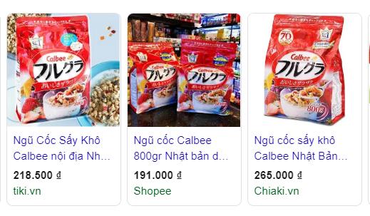 Ngũ cốc Calbee Nhật Bản review có tốt không webtretho mới nhất 200