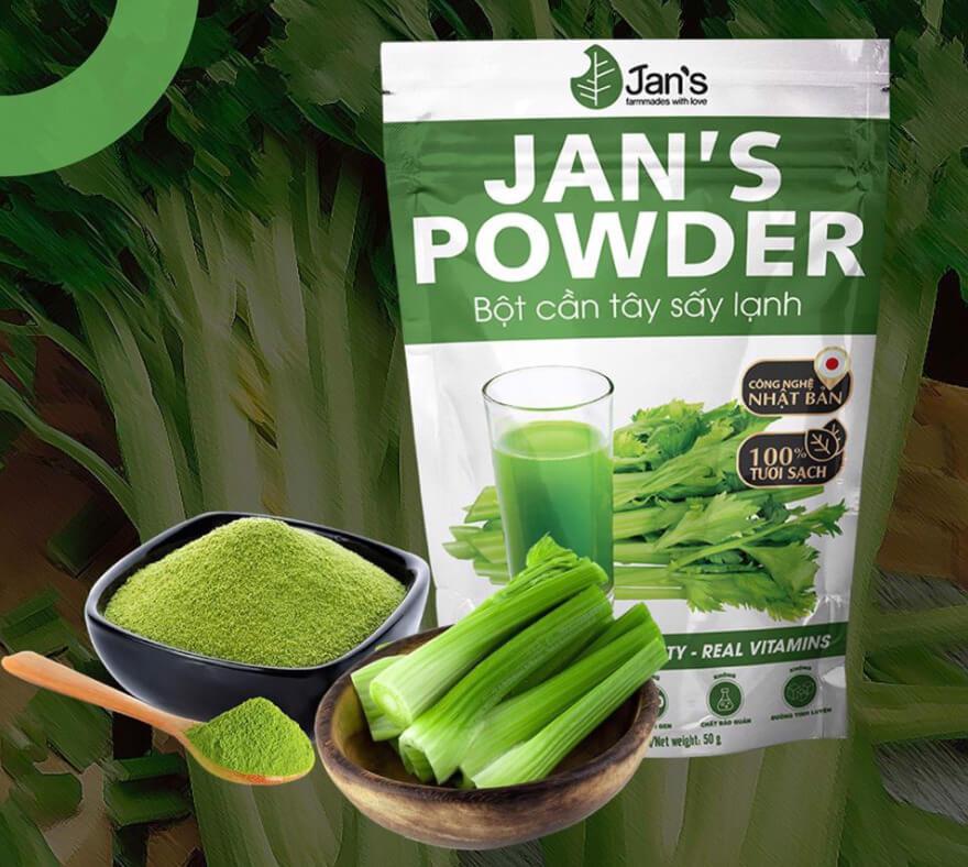 Review bột cần tây giảm cân Jan's Powder có tốt không? Giá bao nhiêu?