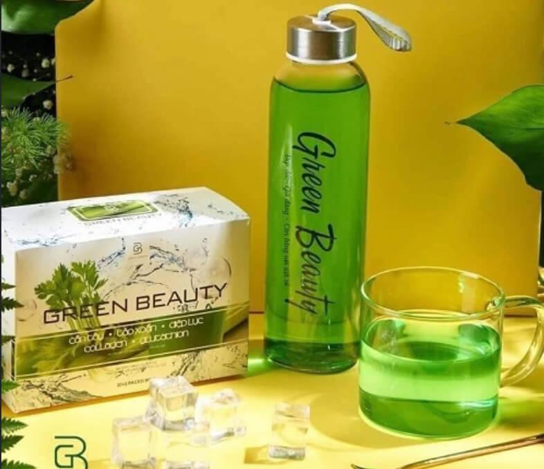 Review nước ép cần tây Green Beauty có giảm cân không webtretho?