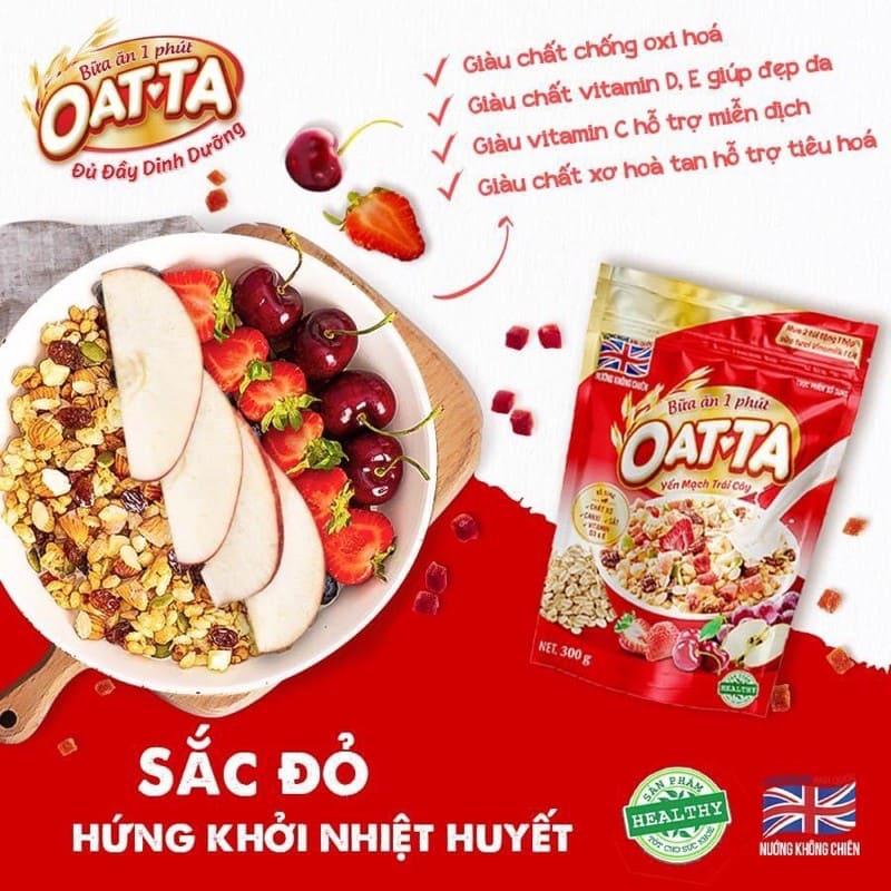 REVIEW Ngũ cốc Oatta yến mạch trái cây có giảm cân không? Tác dụng gì, có tăng cân không?